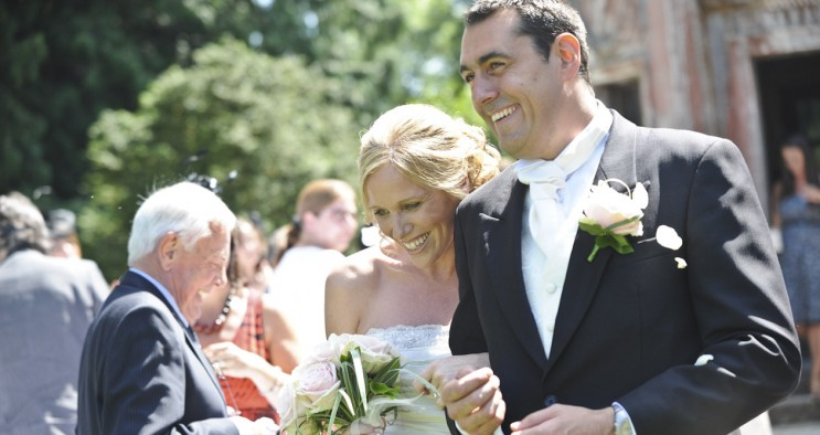 Larmer Tree Dorset Wedding Champagne