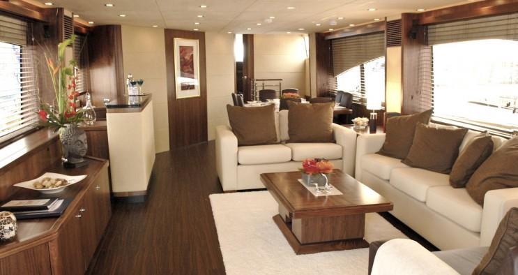 sunseeker yacht interior decor