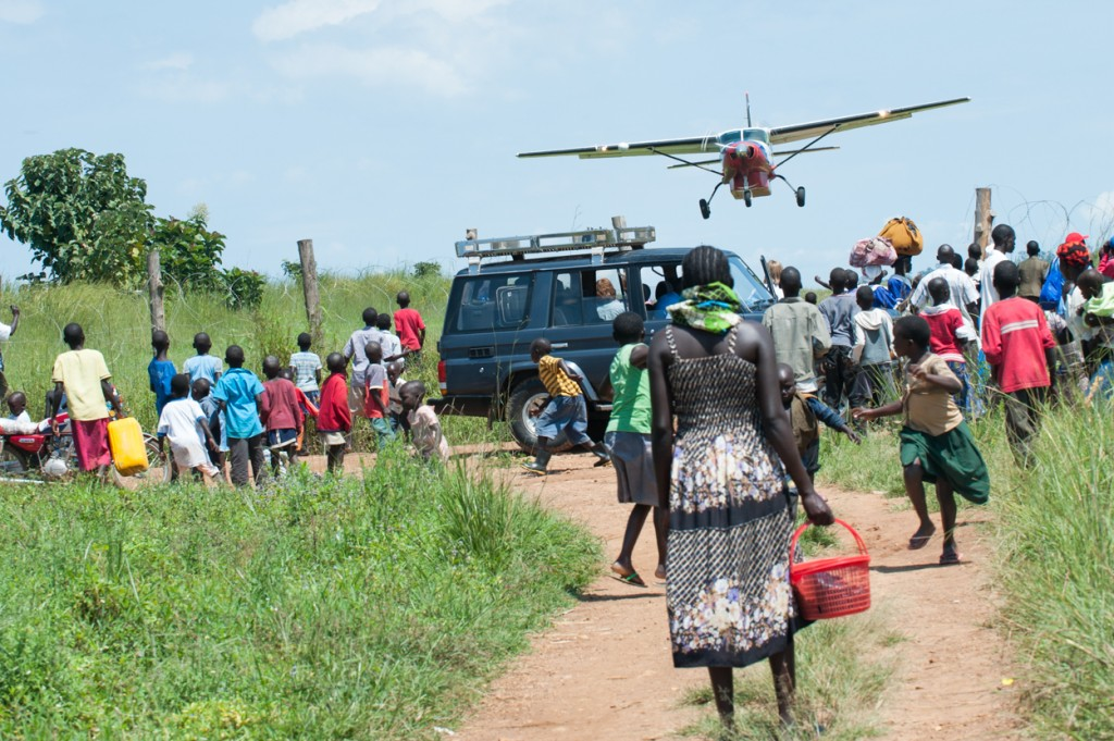 Ministries Aviation Cessna Plane taking off from KajoKeji, South Sudan