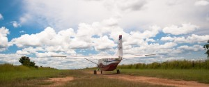 MAF Cessna positioning for take-off. Kajo Keji, South Sudan