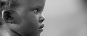 Portrait of shy and beautiful child, Kajo Keji, South Sudan